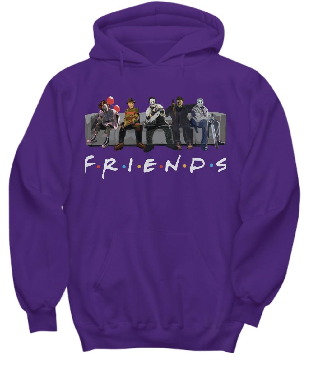 Pennywise IT Leatherface Krueger Jason Voorhees Myers friends hoodie