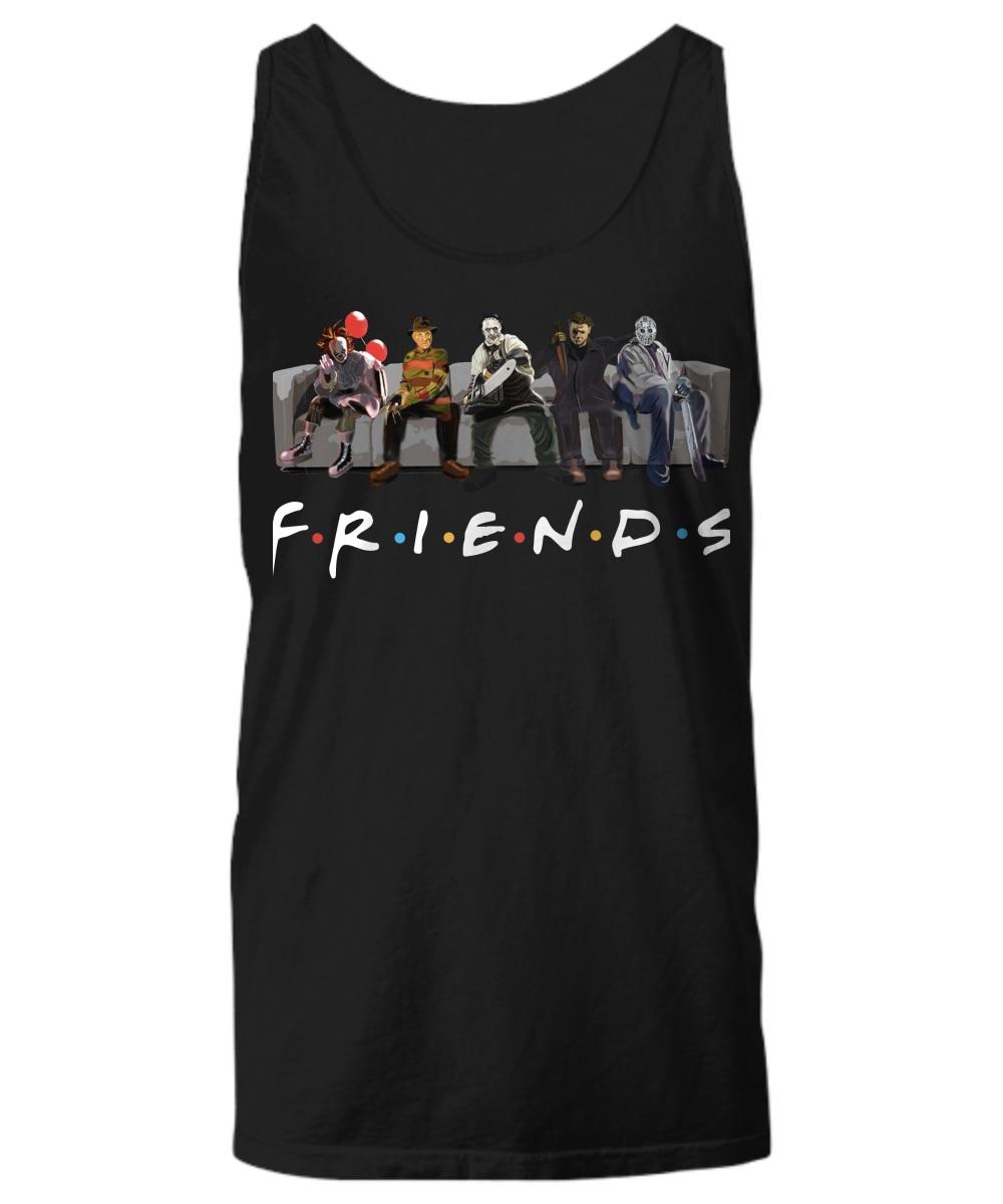 Pennywise IT Leatherface Krueger Jason Voorhees Myers friends tank top