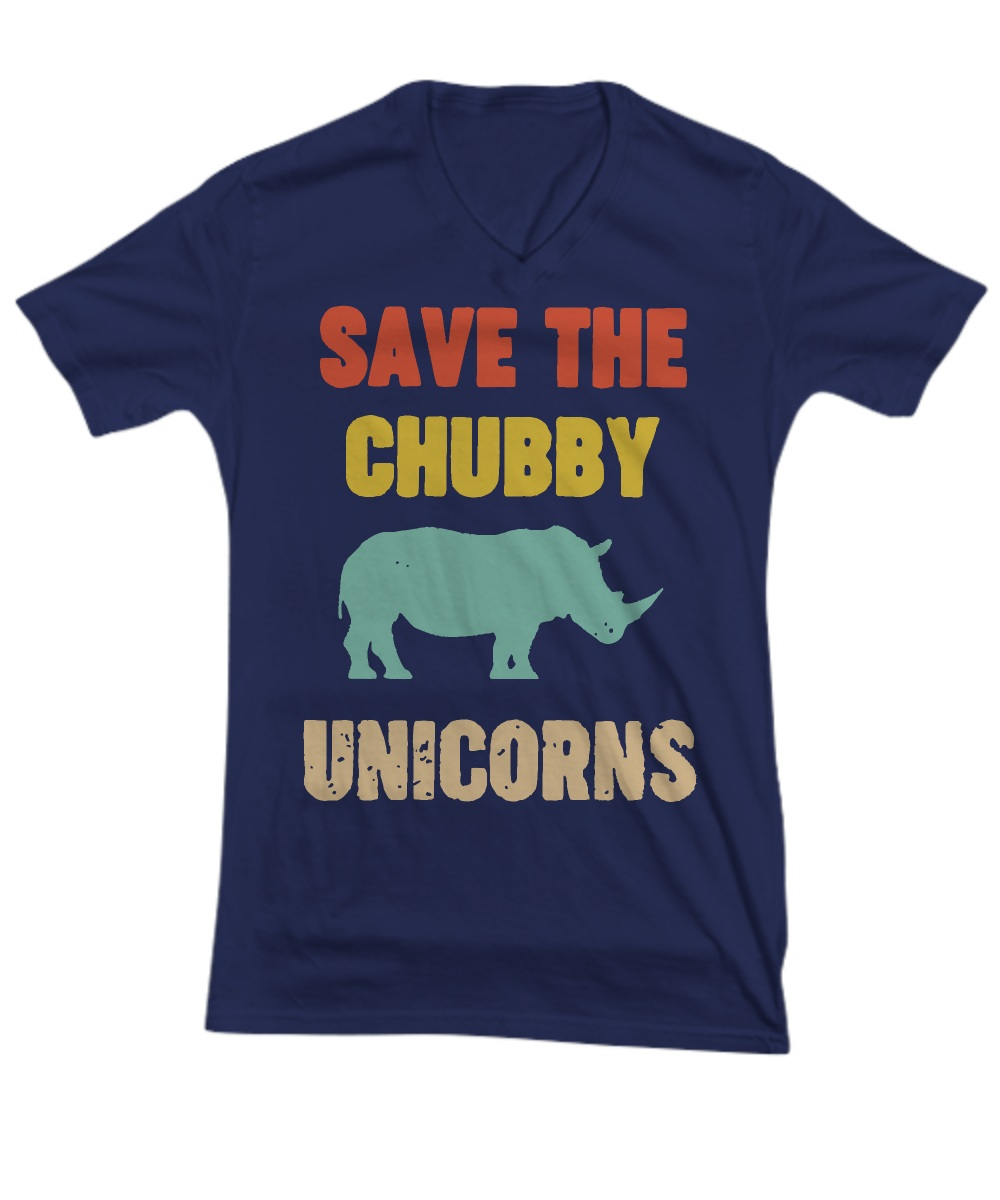 Save the chubby unicorn V-neck