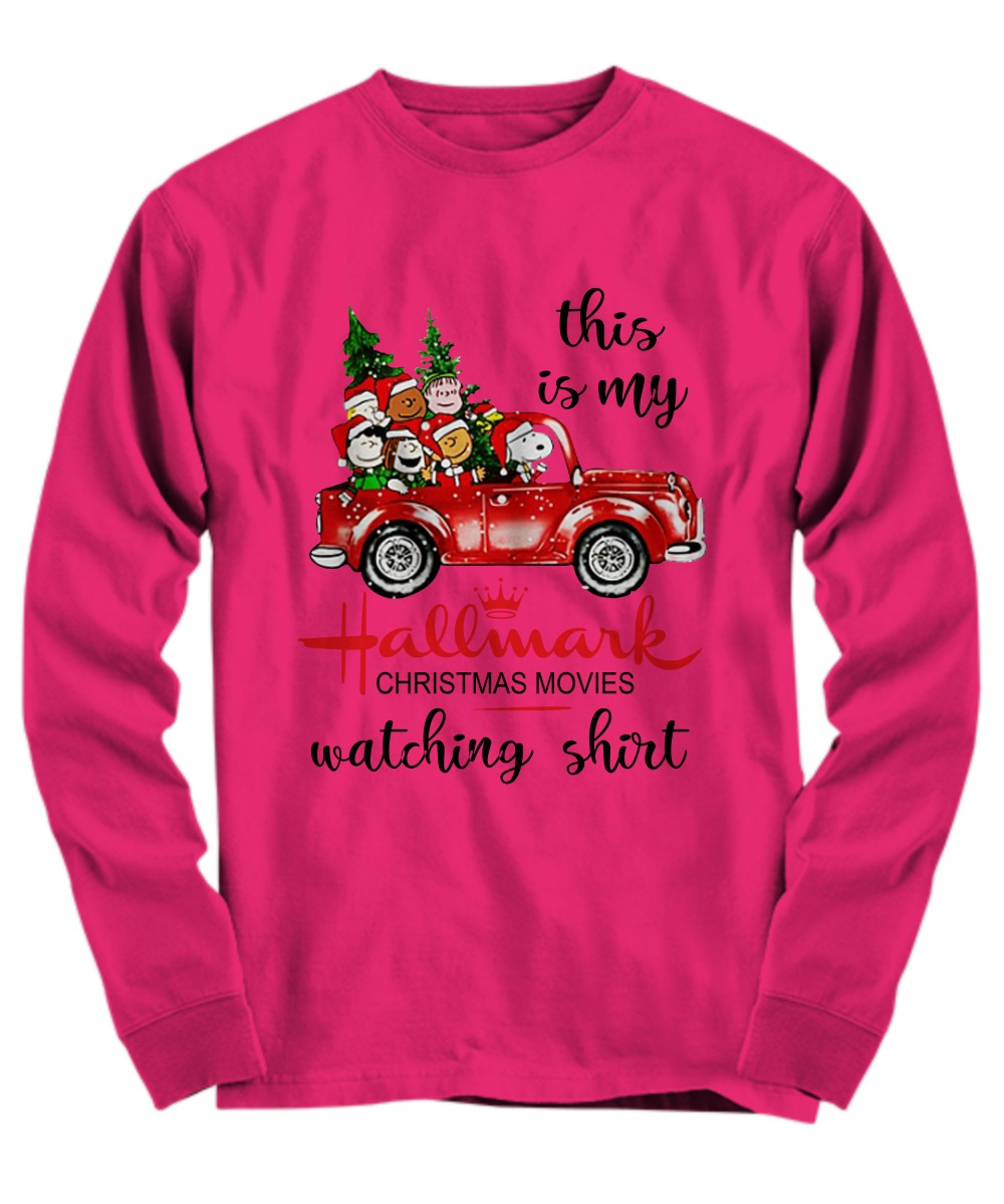 This is my Hallmark Christmas movie watching Snoopy and Peanut long sleeve