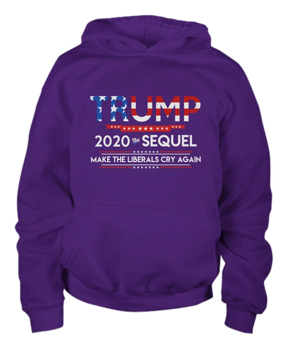 Trump 2020 the sequel make the liberals cry again Hoodie