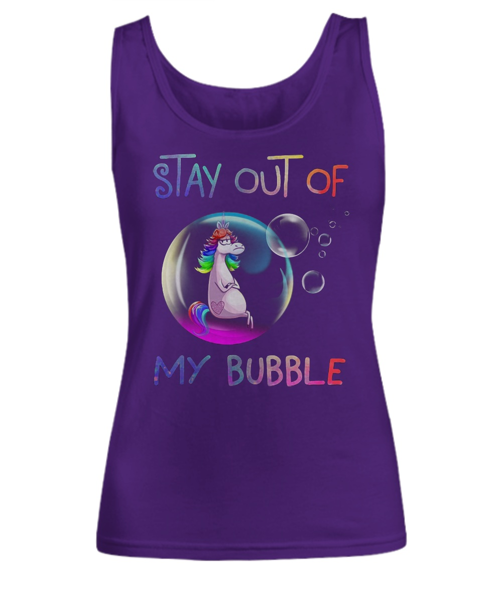 Unicorn stay out of my bubble Tank top