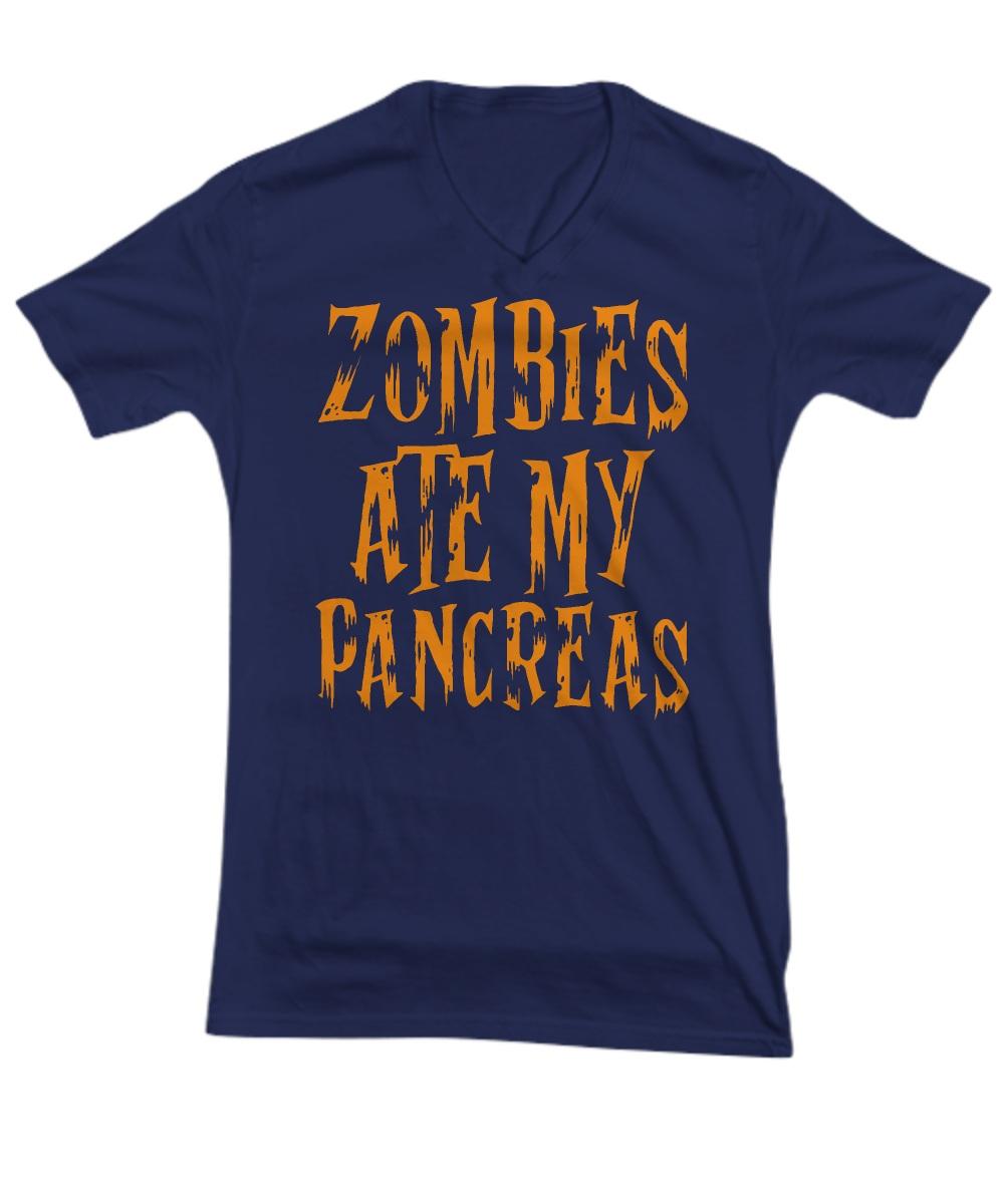 Zombie ate my pancreas V-neck