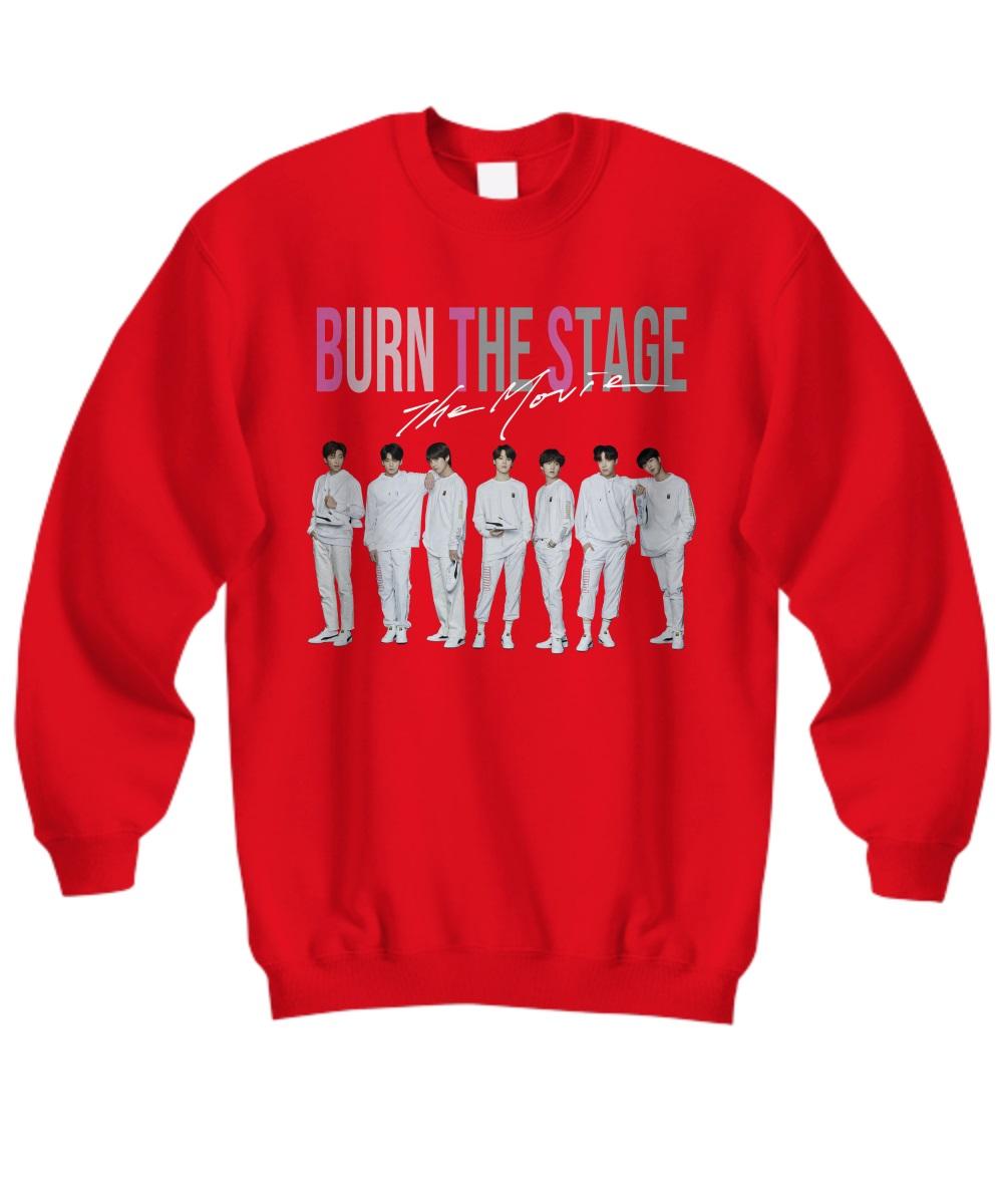 BTS burn the stage the movie sweatshirt