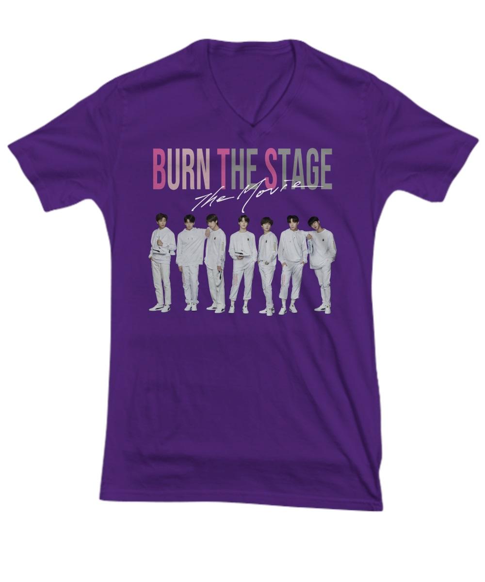 BTS burn the stage the movie v-neck