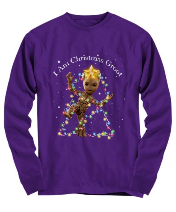 Baby Groot I Am Christmas Groot long sleeve