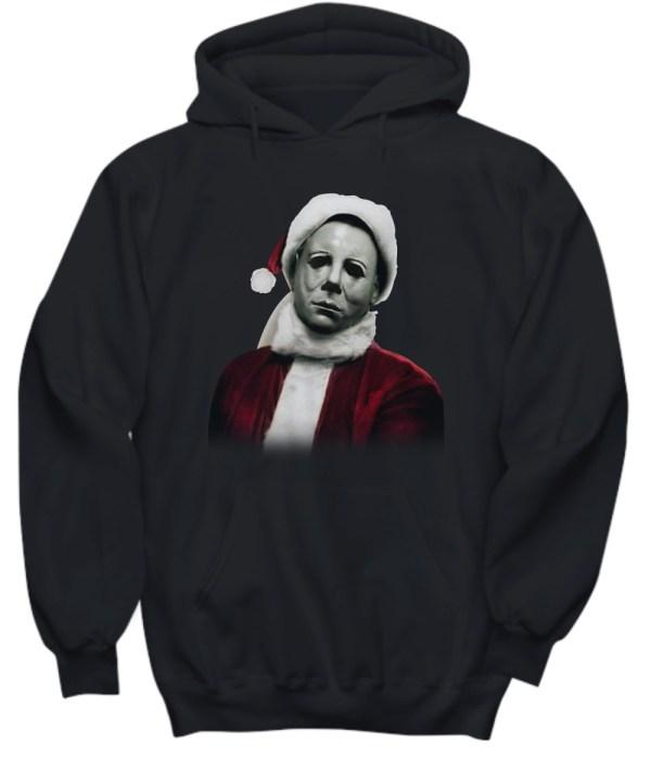 Christmas Michael Myers Santa Hat hoodie