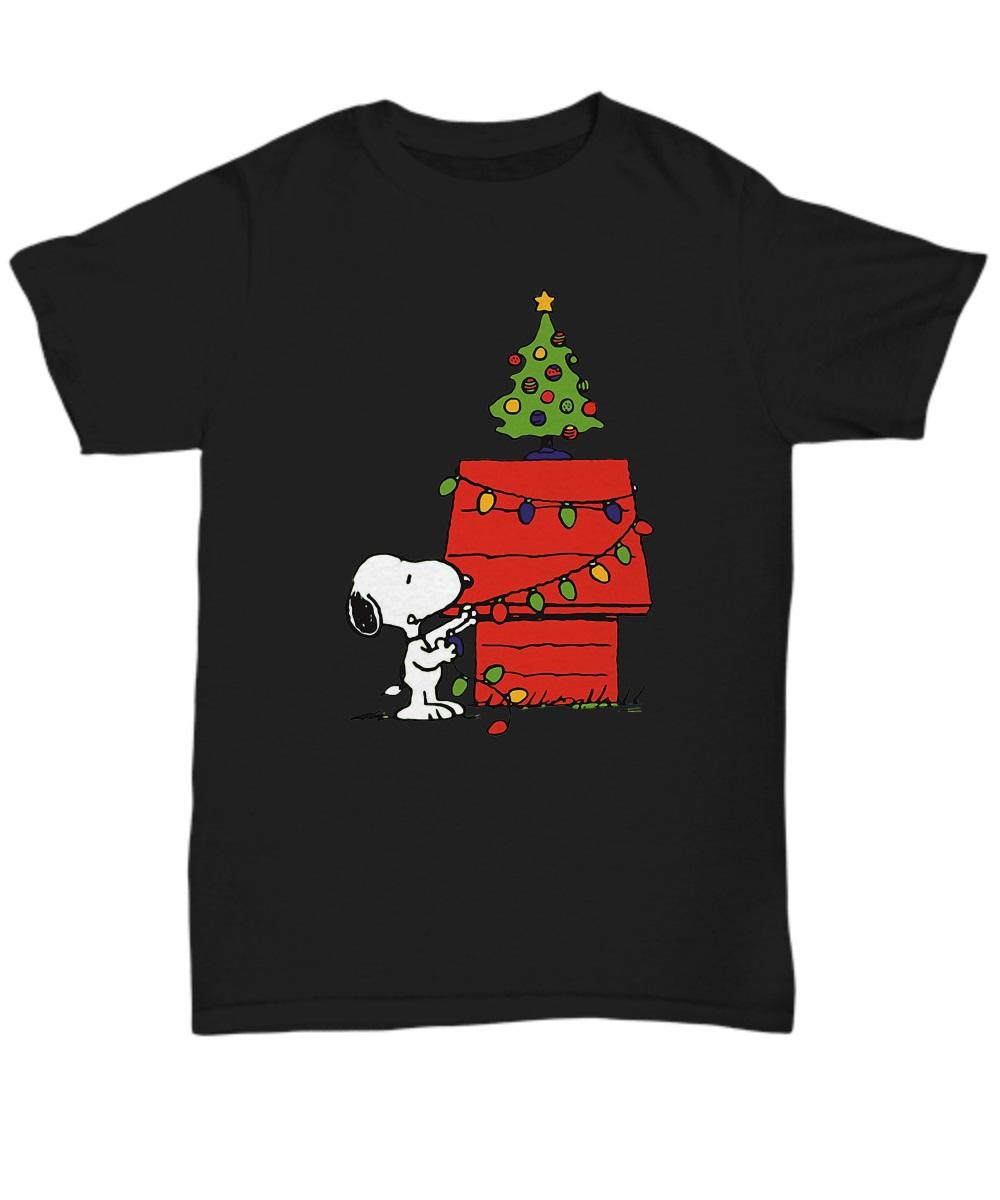 Christmas snoopy lights classic shirt