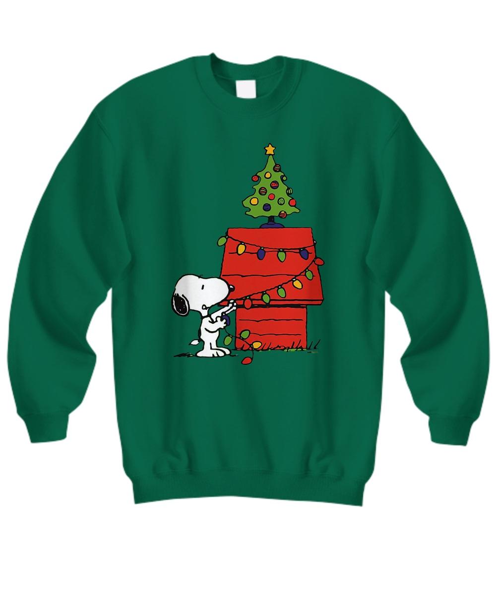 Christmas snoopy lights sweatshirt