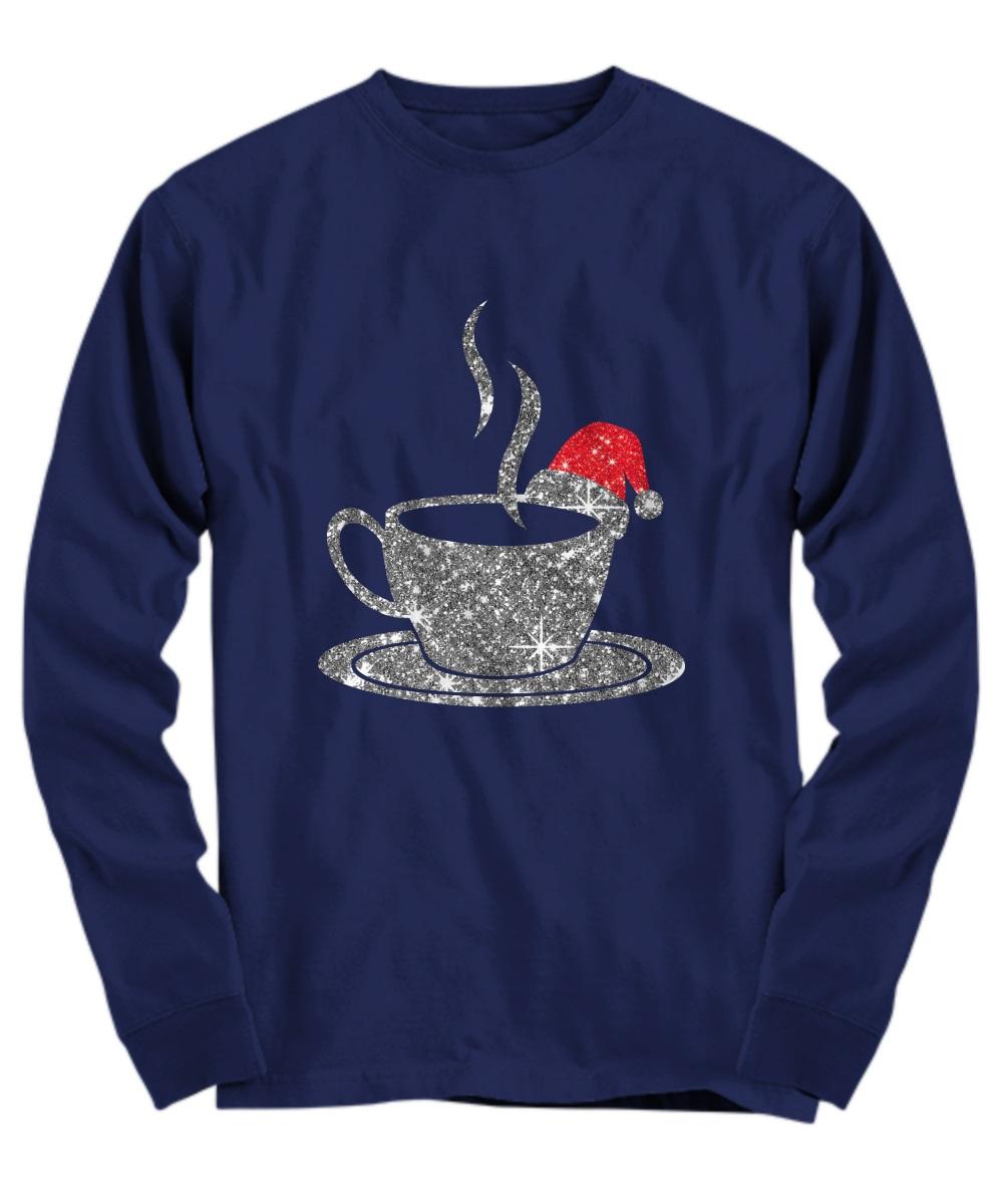 Coffee glitter Christmas long sleeve
