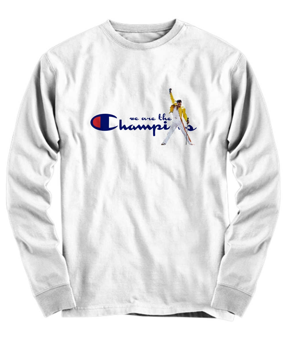 Freddie Mercury we are the champions long sleeve