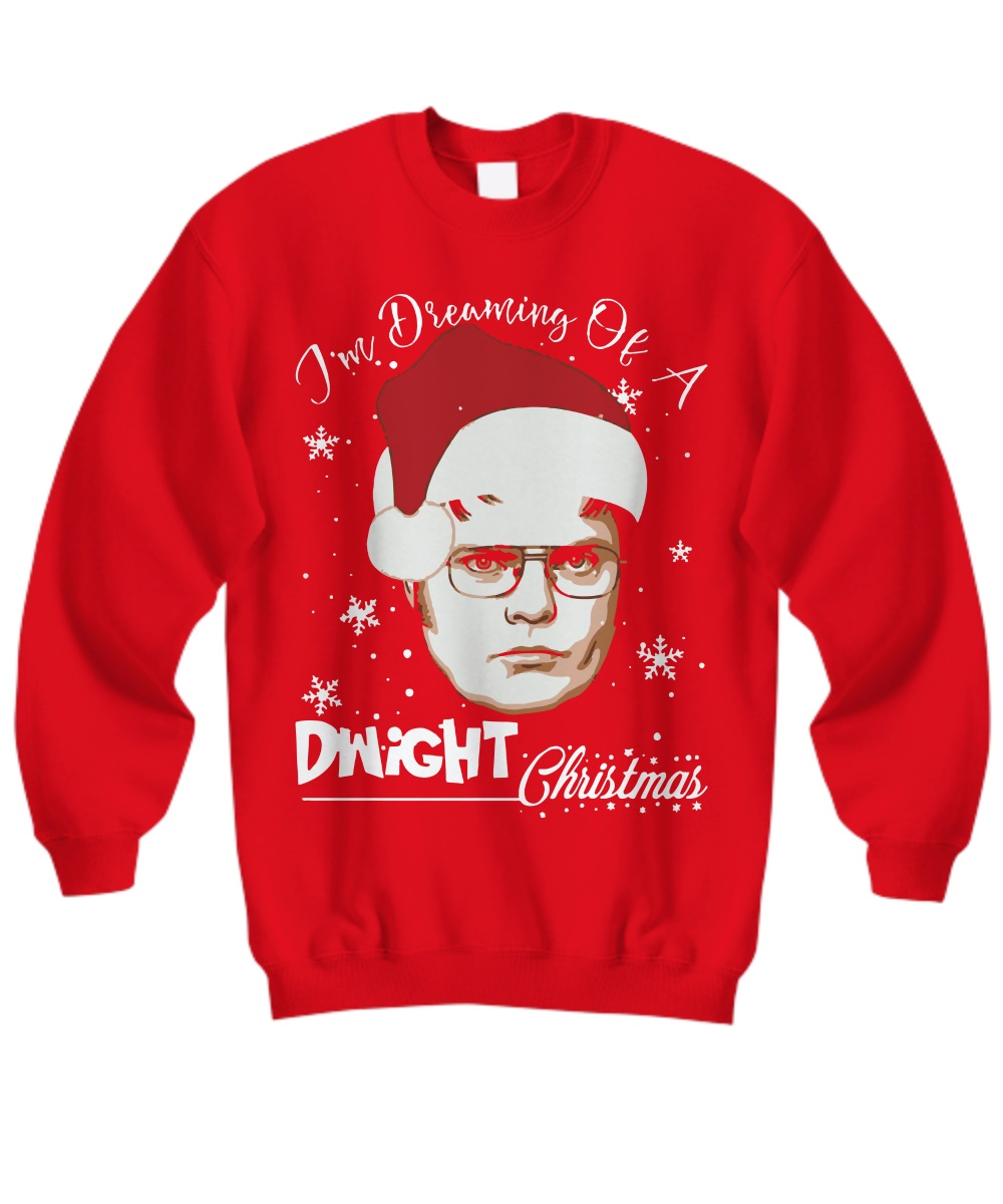 I'm Dreaming Of A Dwight Christmas Snow Dwight Schrute Painting sweatshirt