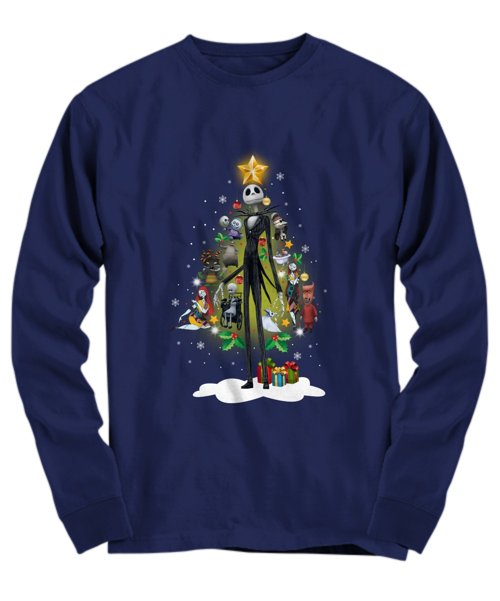Jack Skellington and friends Christmas tree long sleeve