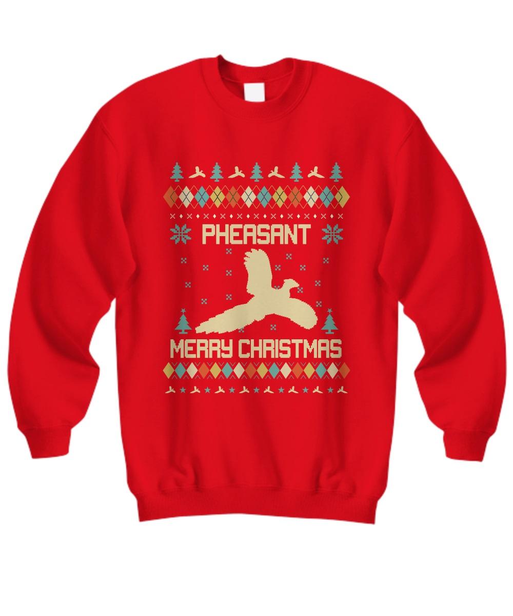 Pheasant merry Christmas sweatshirt
