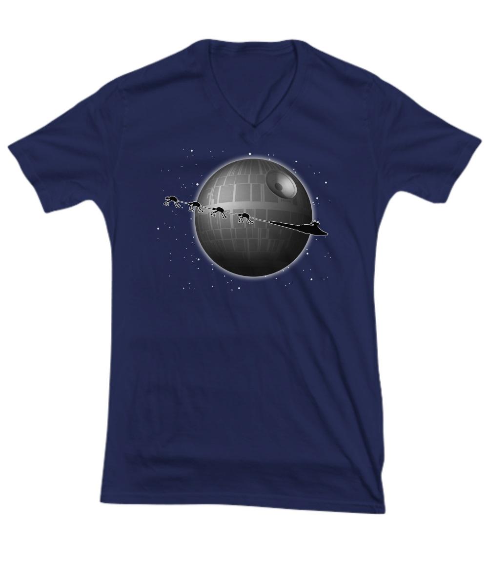 Spaceship and Jar Jar Binks Star Wars v-neck