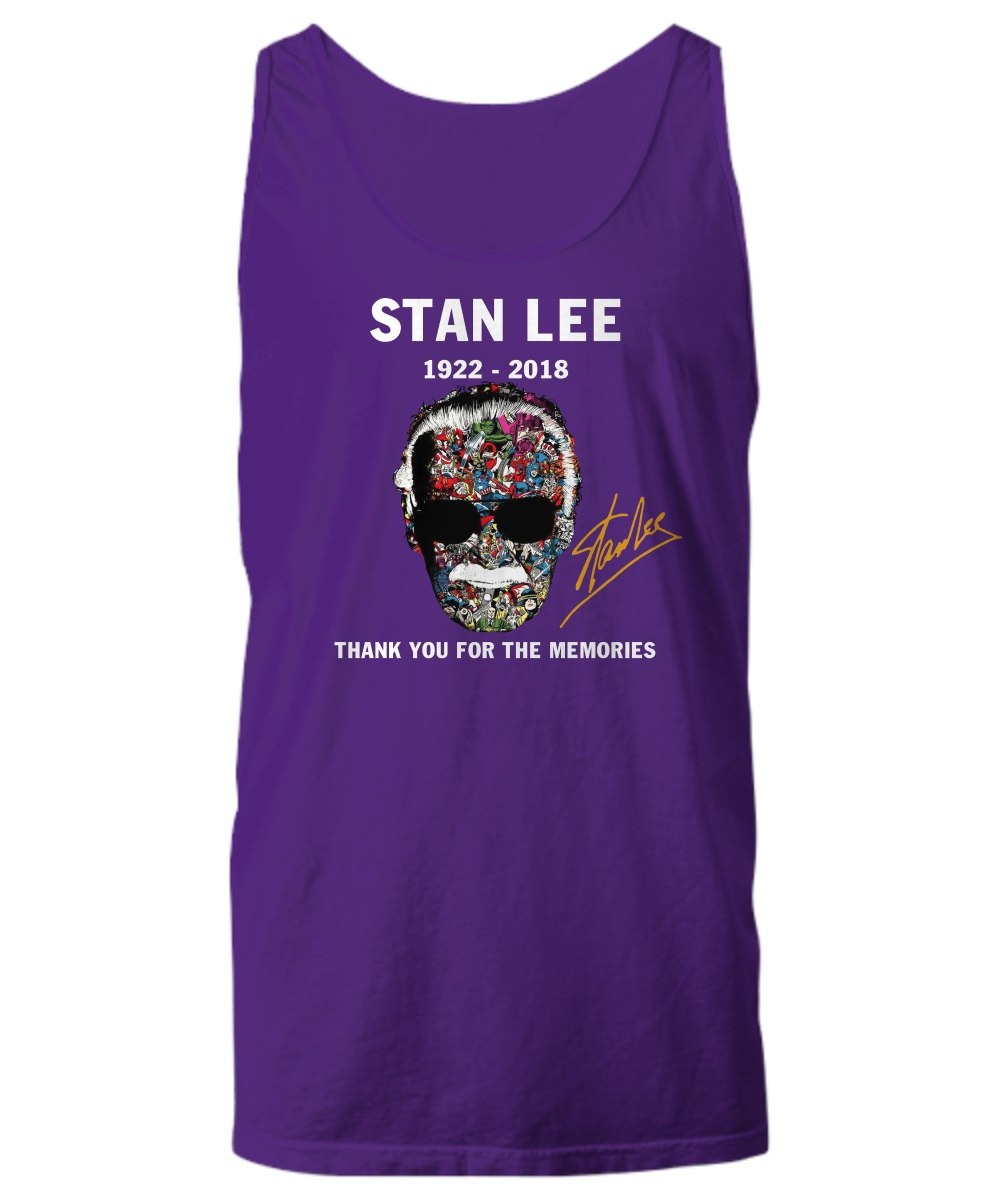 Stan Lee 1922-2018 thank you for the memories tank top
