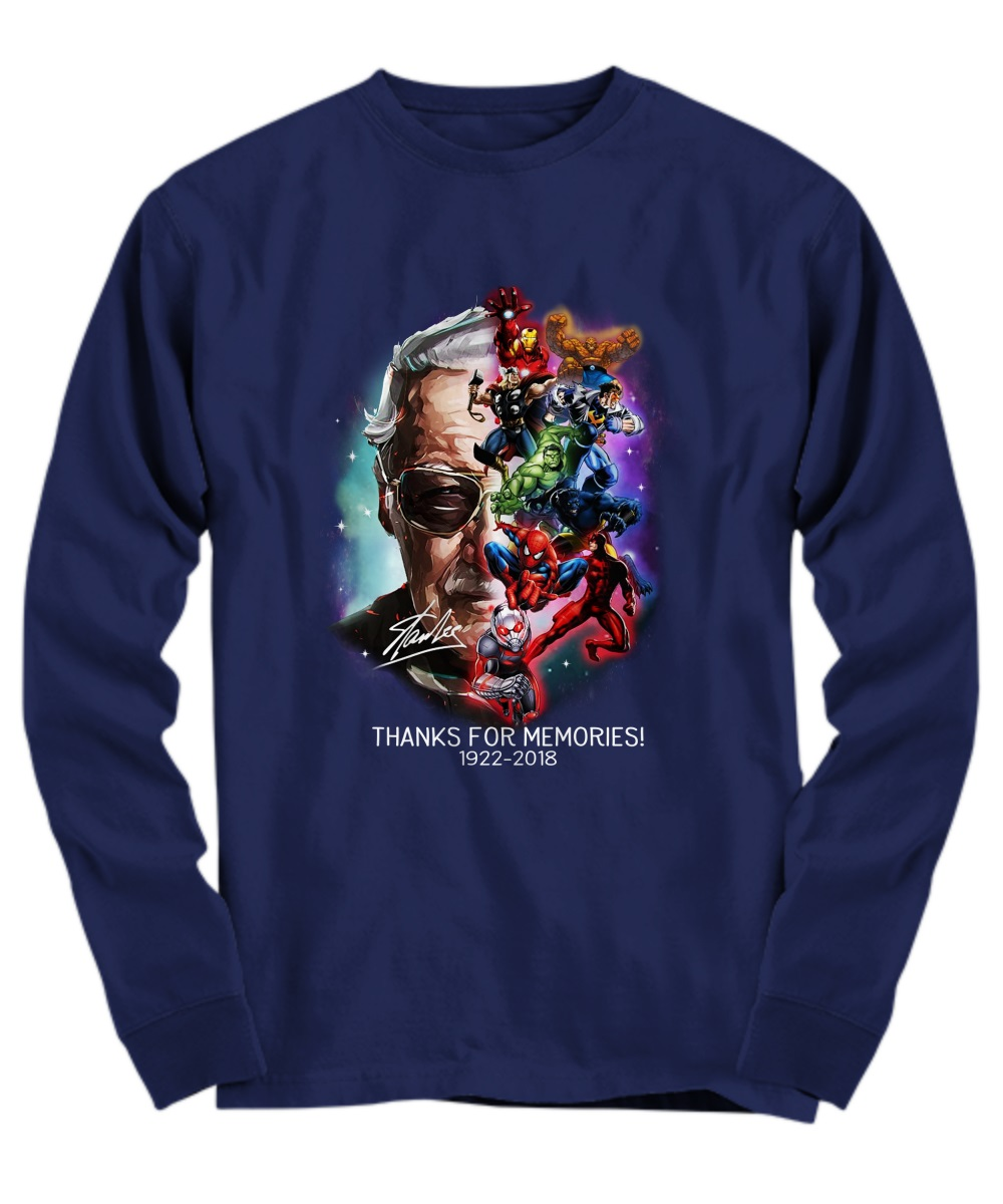 Stan Lee marvel heroes thanks for memories long sleeve