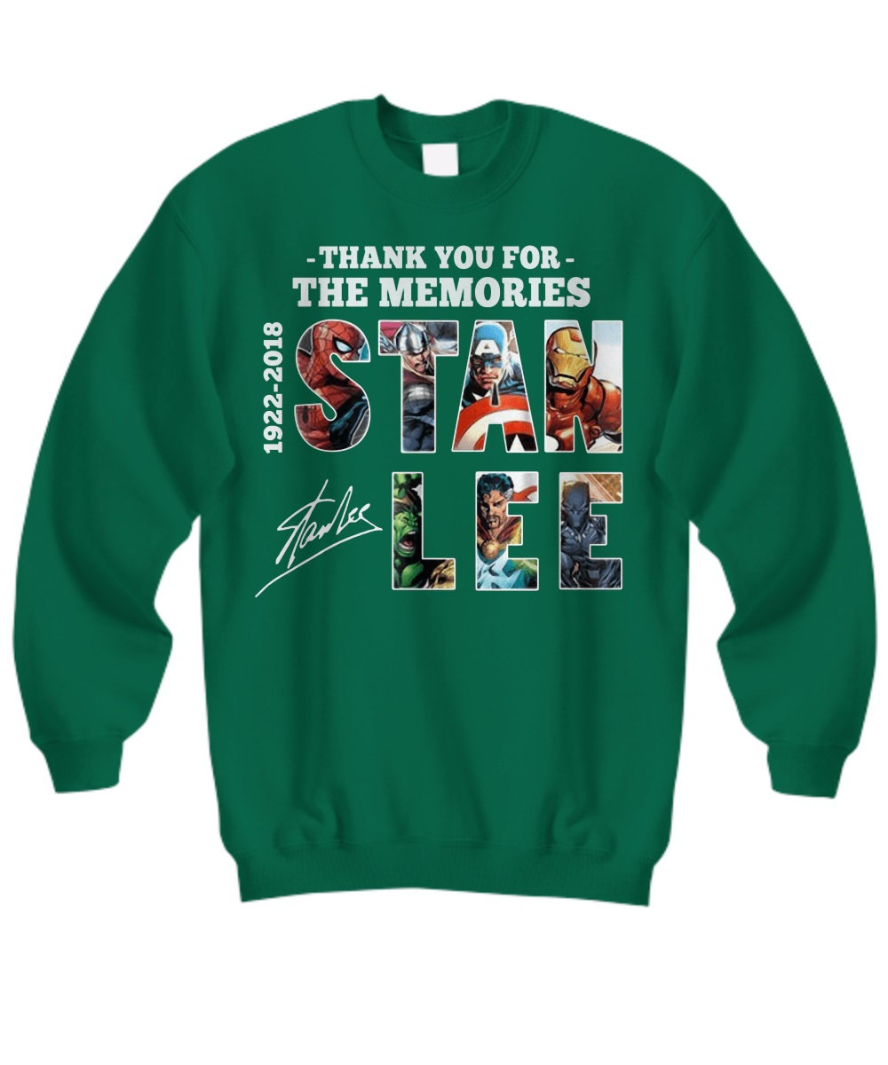 Thank you for the memories Stan Lee all avenger sweatshirt