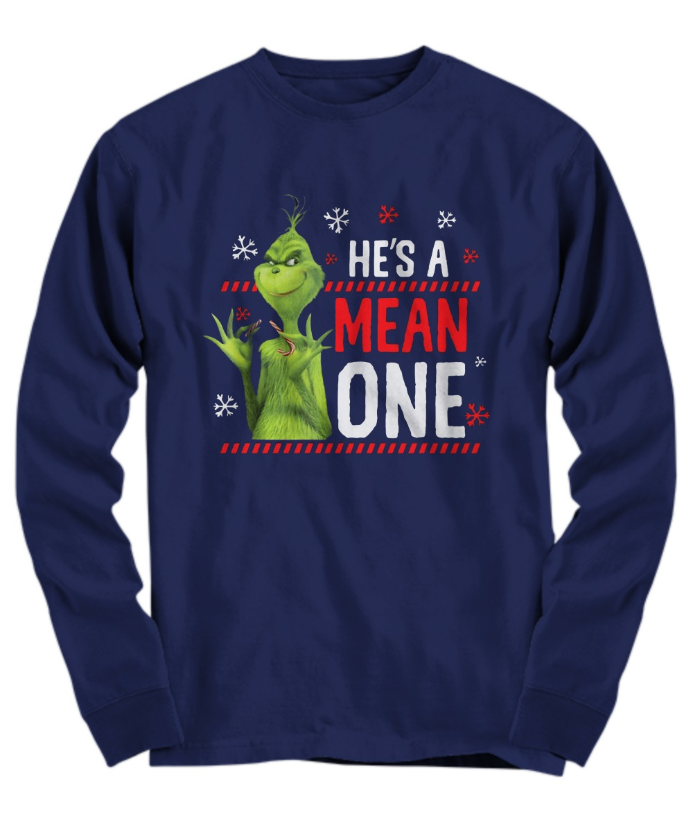 The Grinch He's a mean one long sleeve