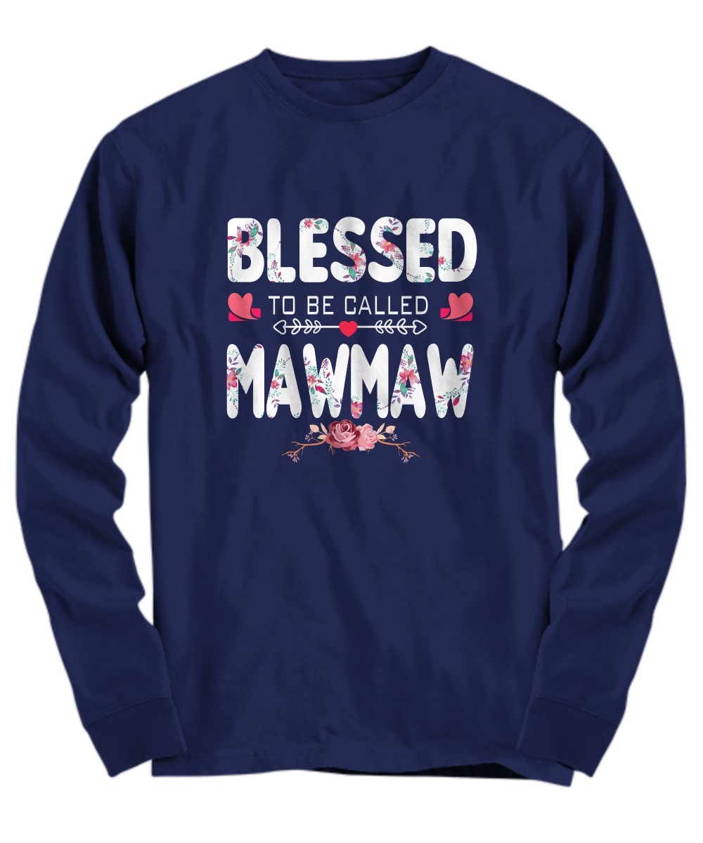 Blessed to be called mawmaw floral long sleeve