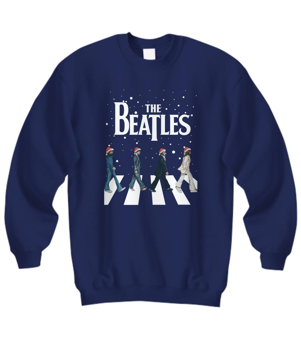 The Beatles Walking Across Abbey Road Christmas sweatshirt