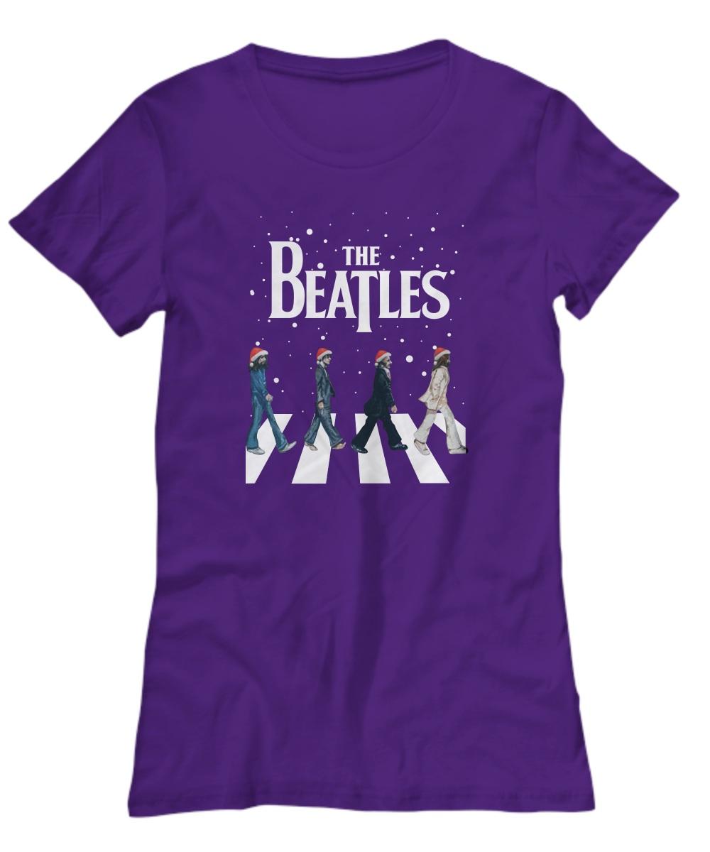 The Beatles Walking Across Abbey Road Christmas women's tee