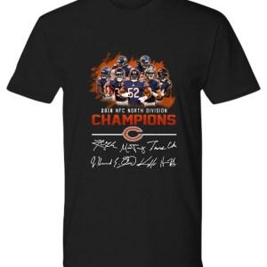 2018 NFC North division champions Chicago Bears signature shirt