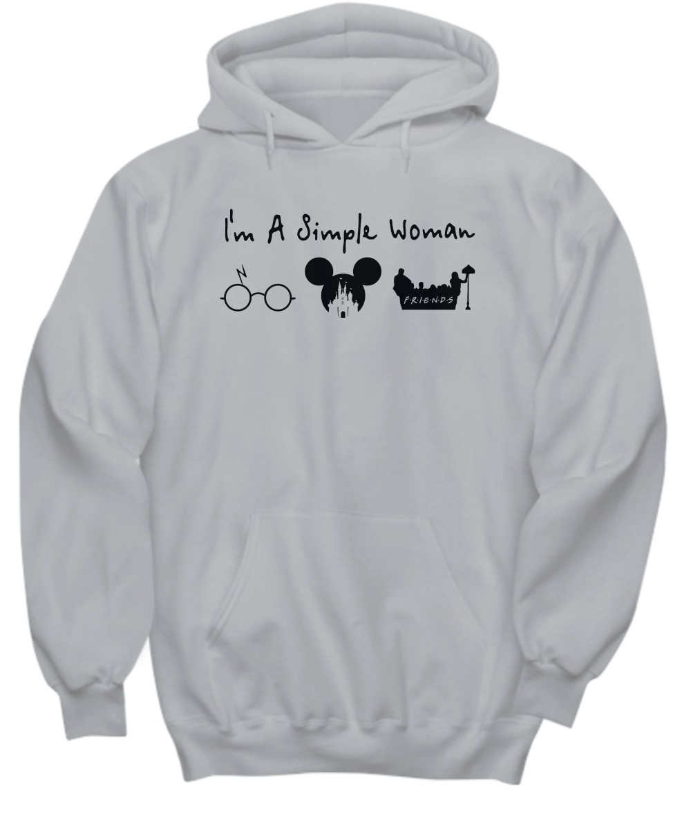 A simple woman who love Harry Potter Disney and Friends hoodie