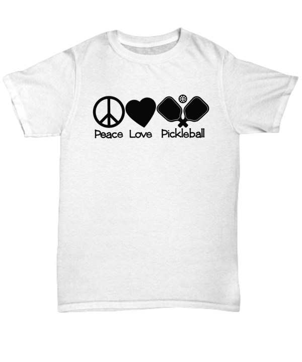 Peace love pickleball shirt