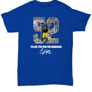 Clay Matthews III 52 Thank You For The Memories shirt