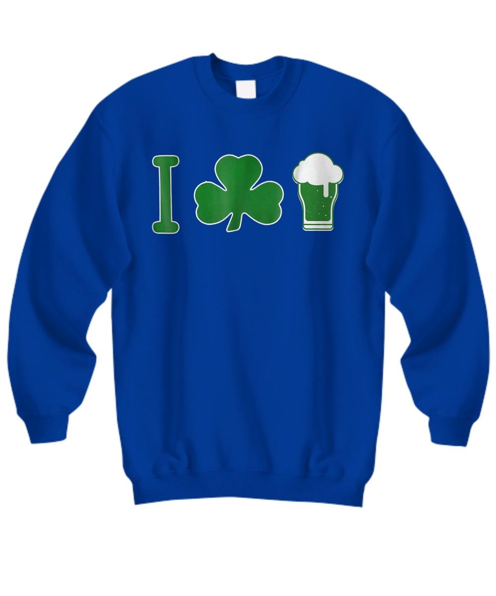 St Patrick's Day I Love Beer sweatshirt