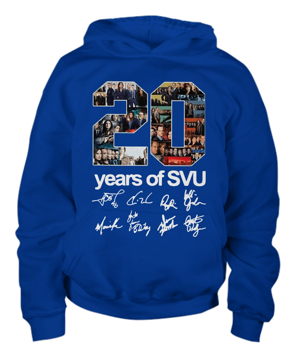20 years of SVU signatures Youth Hoodie