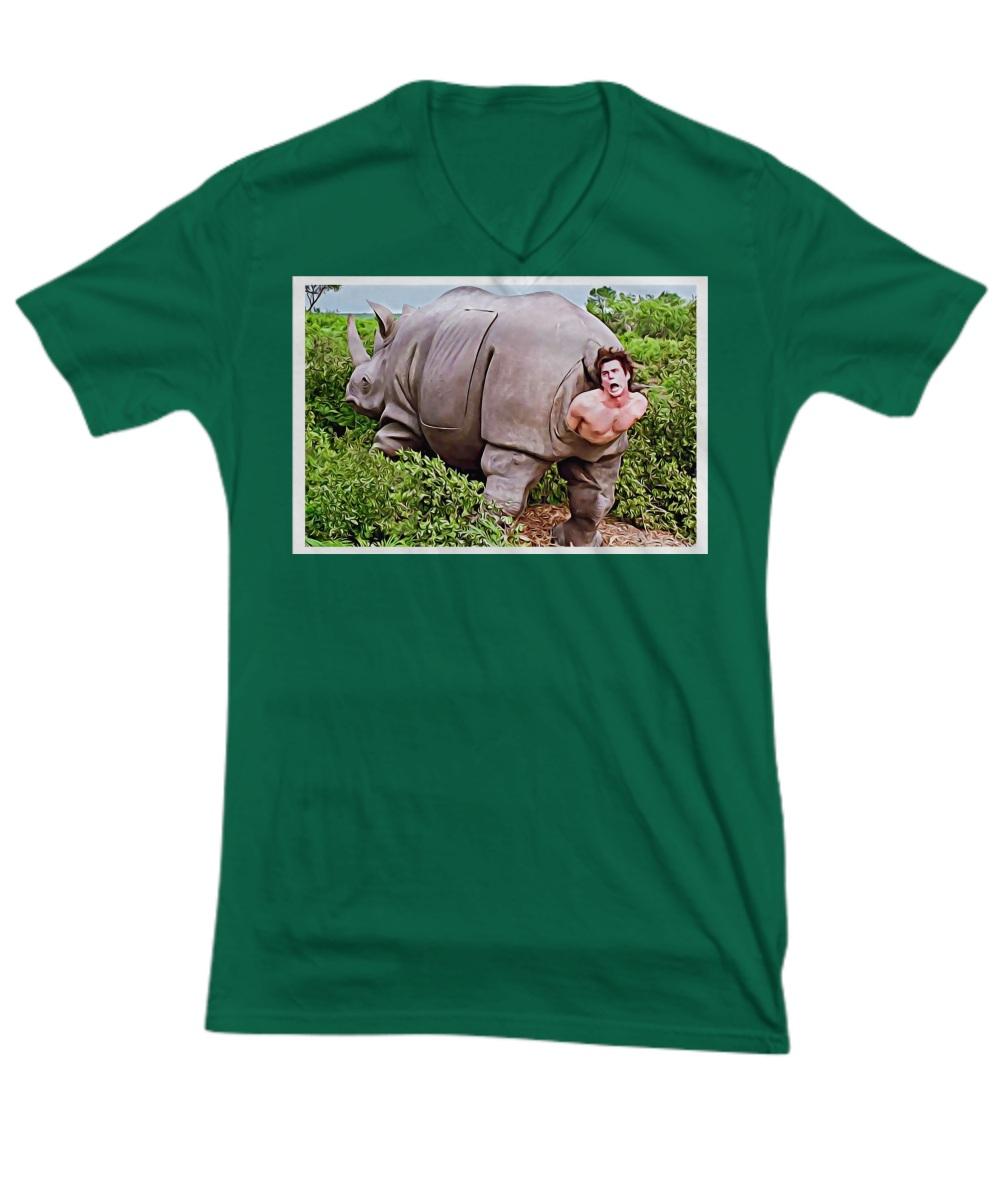 Ace Ventura Rhino Scene Poster V-neck