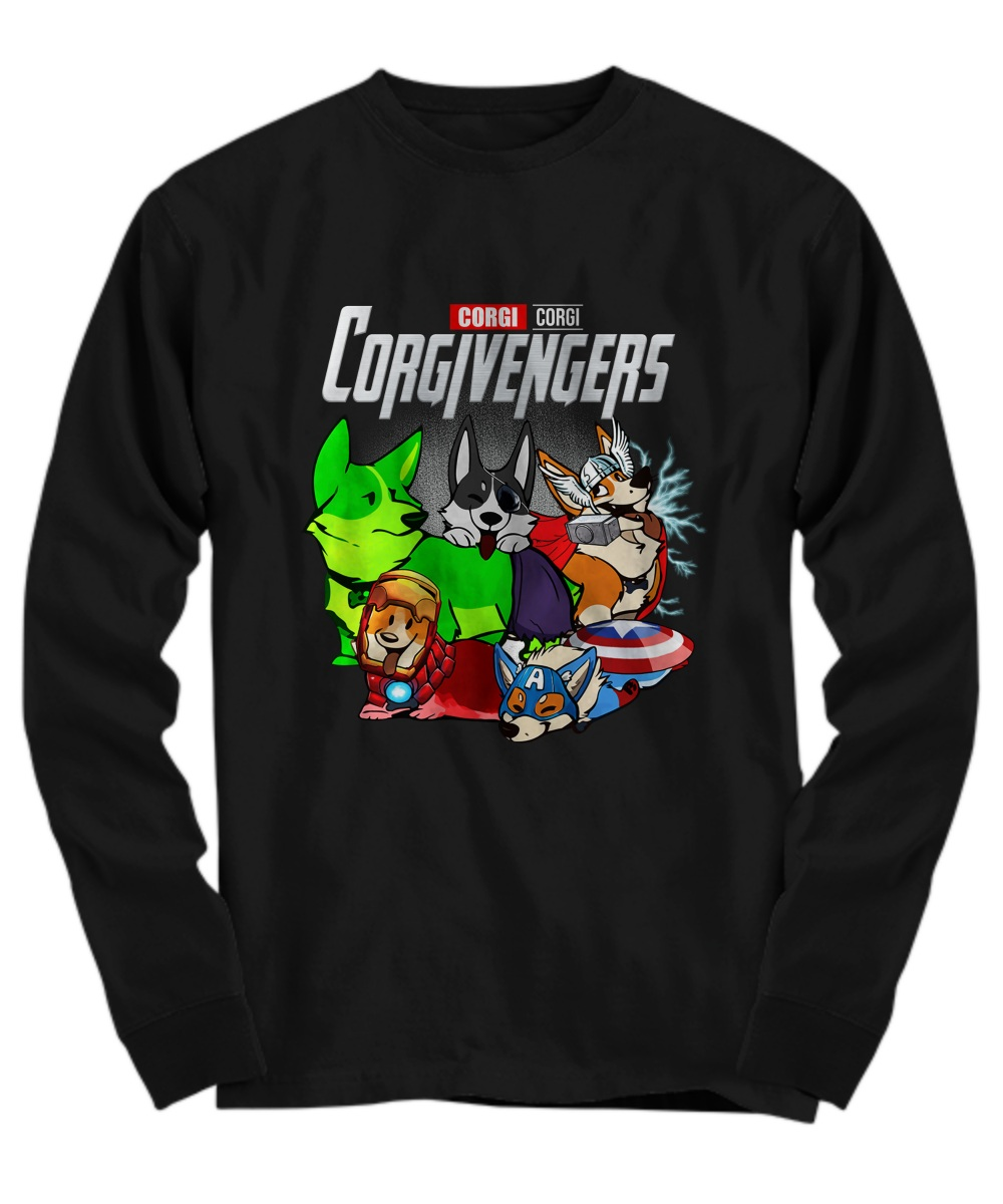 Corgi avengers Long sleeve