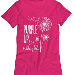 Dandelion purple up for military kids Women's Tee