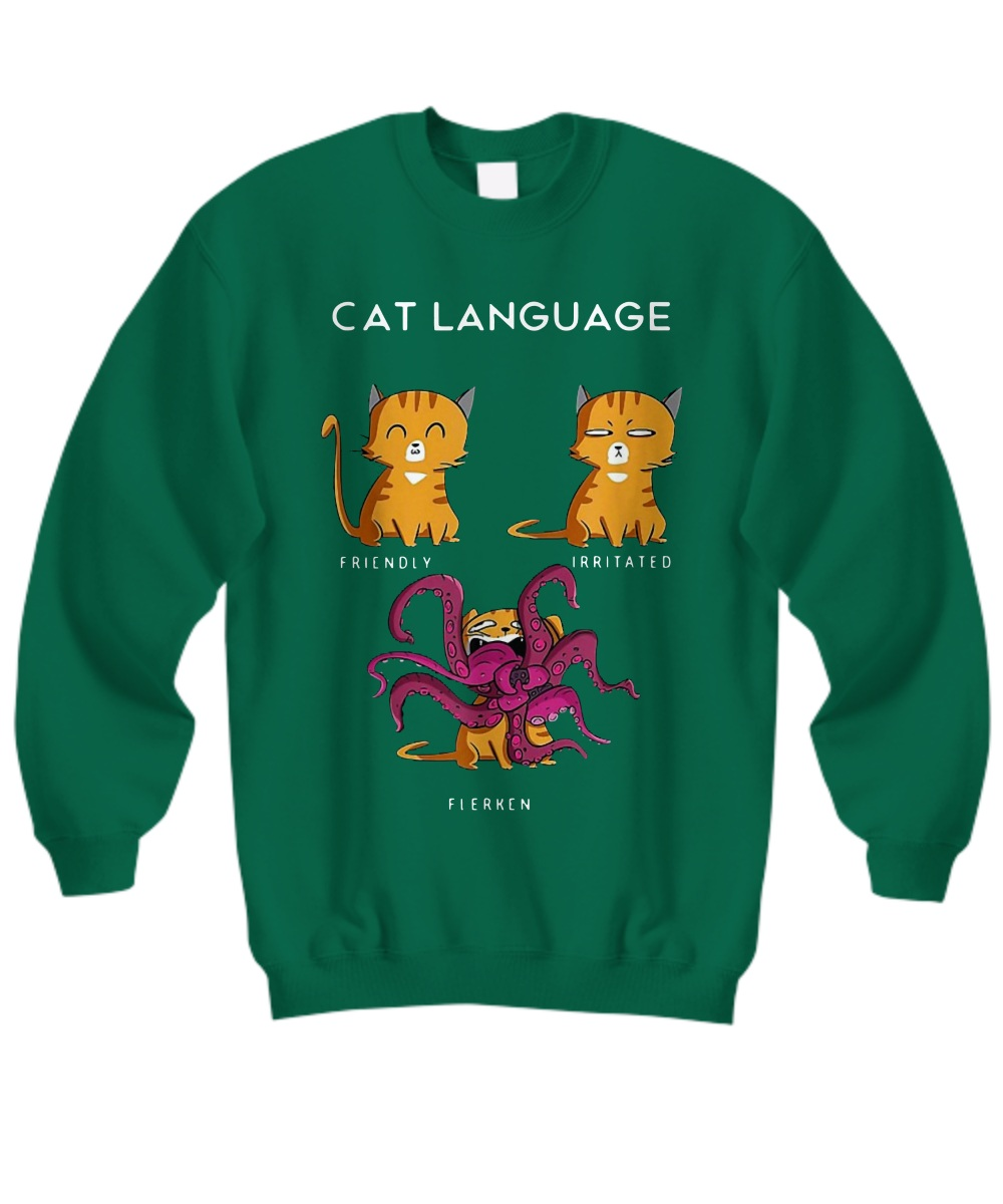 Goose Cat Language Friendly Irritated Flerken Sweatshirt