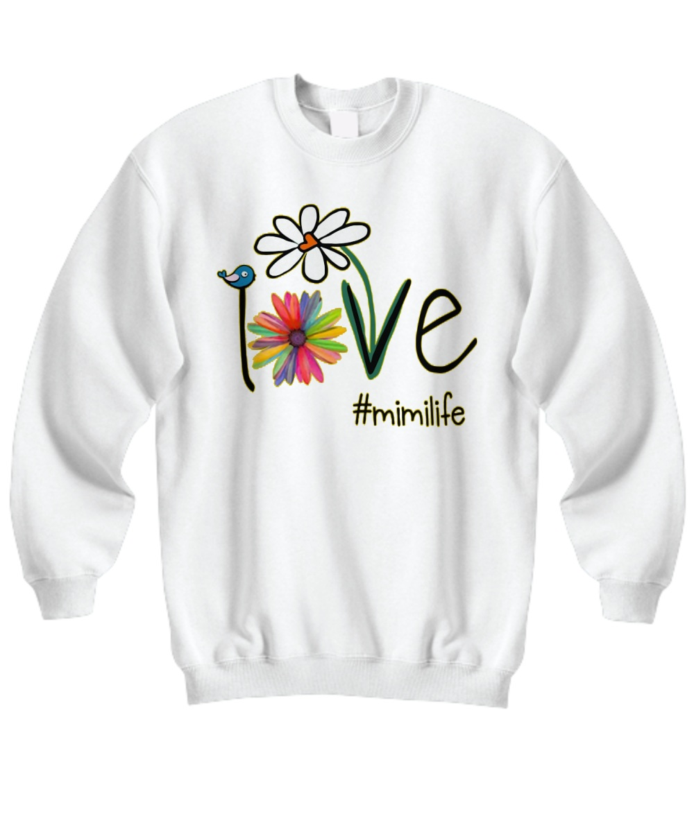 Mimilife Bird Flower Love Sweatshirt