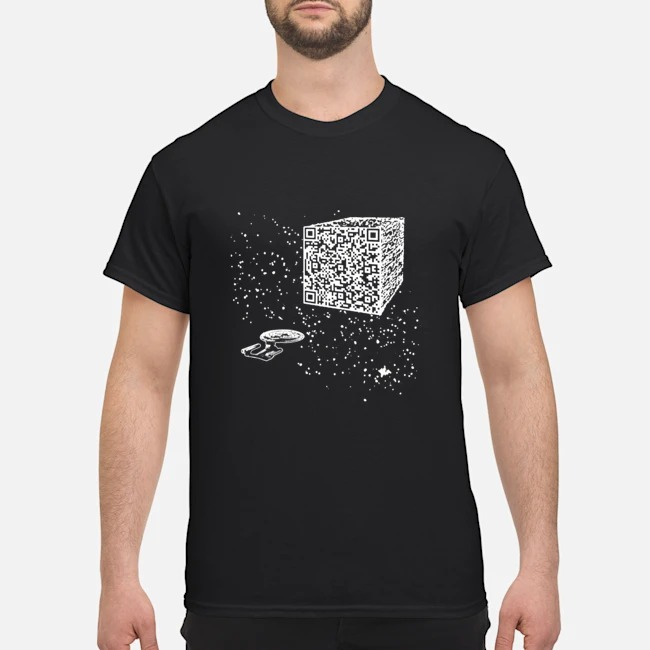 QR code We are the borg cube shirt