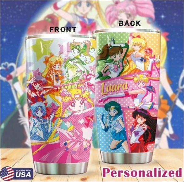 Personalized Sailor Moon tumbler