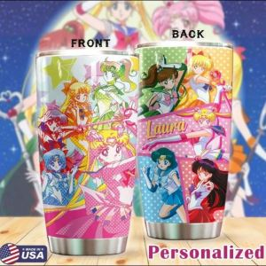 Personalized Sailor Moon tumbler