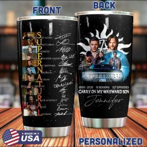 Personalized Supernatural carry on my way son tumbler