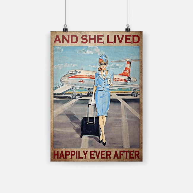 Flight attendant And she lived happily ever after poster
