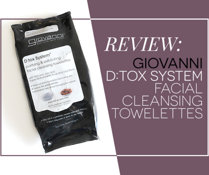 Review: Giovanni's D:Tox System Facial Cleansing Towelettes