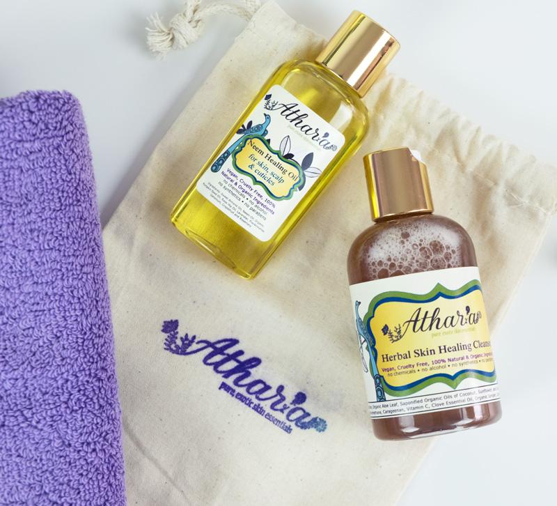 Athar'a Pure Vegan Neem Healing Oil & Skin Healing Cleanser