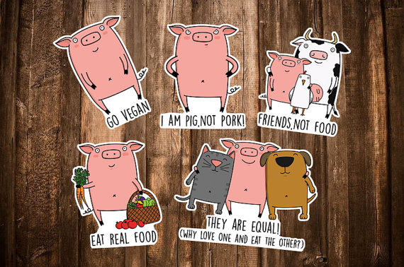 Vegan stickers // Absolutely Corgeous