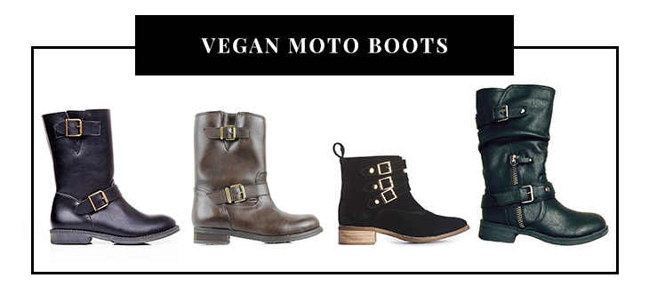 Vegan Moto Boots