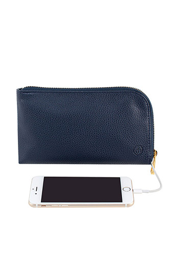 Vegan Leather Clutchette Power Charging Pouch