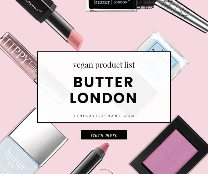 Butter London Vegan Product List