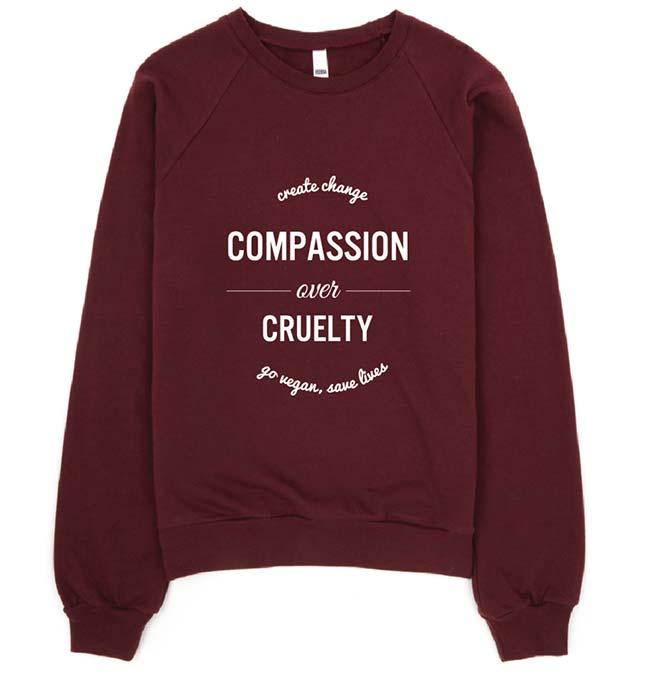 Compassion over Cruelty Vegan Sweater