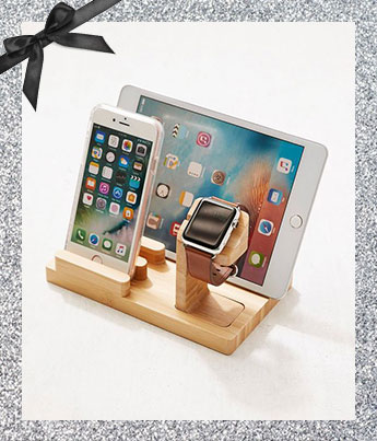 Wooden Multi-Device Charging Dock - Ethical Gift Guide